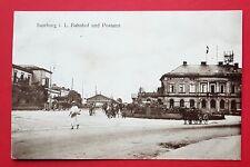 AK SAARBURG 1917 Bahnhof und Postamt mit Pferdekutschen   ( 30775