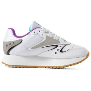 Reebok DV5376 Classic leather ATI 90S Running shoes white green purple sneakers
