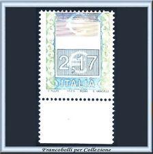 2002 Italia Repubblica Alti Valori € 2,17 Varietà senza stampa Nuovo **