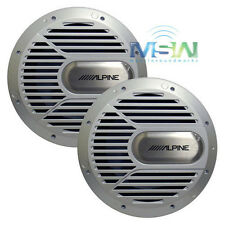 "(2) *NEW* ALPINE® SWR-M100 10"" Type-R MARINE AUDIO BOAT SUBWOOFERS SUBS *PAIR*"