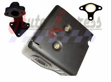 HONDA GX390 13hp MUFFLER WITH MANIFOLD WITH FREE GASKET AND HEAT SHIELD GX 390