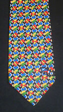 Colorful METS Marine Equipment Trade Show 1997 10th Anniversary Silk Necktie