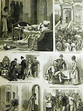 Mrs. Hull Murder 140 West 42nd Street NYC SUPT. WALLING 1879 Art Print Matted