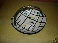 napco, candy dish, black  withblue and yellow geometric