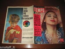 RIVISTA TEMPO 1961/36=ELEONORA ROSSI DRAGO=GELA=GINA LOLLOBRIGIDA=VIA VENETO=