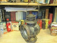 C T HAM MFG DRIVING LAMP OIL LANTERN PATENTED 1908 KEROSENE CARRAGE AUTO ANTIQUE