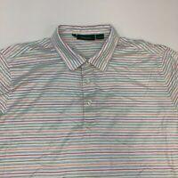 Bobby Jones Polo Shirt Men's Size 2XL XXL Short Sleeve Multicolor Striped Cotton