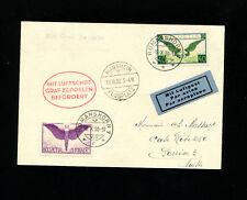 Zeppelin Sieger 96 1930 Mannheim Flight  Switzerland Treaty dispatch SLH ZF140