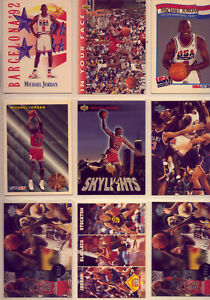 MICHAEL JORDAN: 9 FANTASTIC CARDS: GREAT CONDITION  VERY  LOW   RESERVE