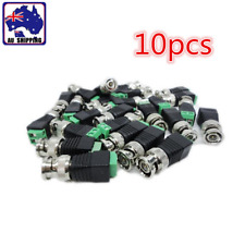 10pc 4cm Video Balun Connectors Male CCTV Videos Camera BNC Adapter EVSY67801x10