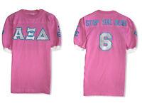 Vtg Eagle Women's Alpha Xi Delta Sorority Single Stitch Stop The Bus Shirt Sz S