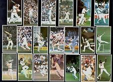World Cricketers Full 20 Card Set Botham Dev Hadlee Richards Khan Lillee Lloyd