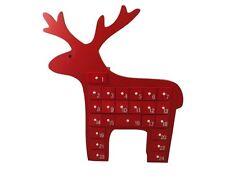 Gisela Graham Christmas Decoration - Red Scandi Reindeer Advent Calendar
