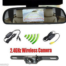 Wireless 4.3″ TFT LCD Monitor Car IR Rear View Reverse Parking Backup Camera Kit