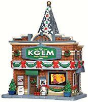 Lemax 35587 KGEM RADIO STATION Plymouth Corners Building Christmas Village S O R