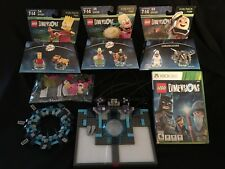 LOT Xbox 360 Lego Dimensions Game, Portal, 1 Ghostbusters & 2 Simpson Fun Packs