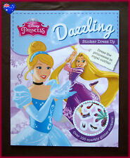 DISNEY PRINCESS - DAZZLING Sticker Dress Up Activity Book 100+ glittery stickers