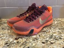 Nike Kobe X 10 Silk Road Basketball Shoes Orange Mens SZ 9.5 705317-676 New