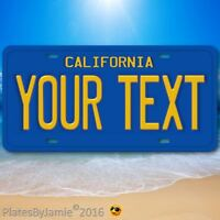 "California ANY TEXT Your Personalized Text Aluminum Vanity License Plate 6""x12"""
