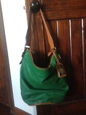 Lauren By Ralph Lauren Hancock Green Leather Zip Bucket Hobo Purse Handbag