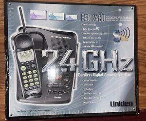 Uniden EXR 2480 2.4 GHz Cordless Phone Digital Answering System Speakerphone New