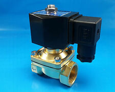 "3/8"" NPT 12-Volt DC Electric N/C Brass Solenoid Valve w/ Hi-Temp. Viton Seal"