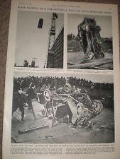 Photo article demonstrating car crash impact Copenhagen Denmark 1955 rf Z