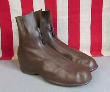 """Vintage 1930s Bf Goodrich Rain Ankle Boots Galoshes Rubber 9 3/4"""" Length New Nos"""