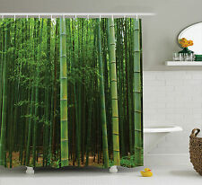 Picture of a Bamboo Trees in Tropical Jungle Zen Home Decor Shower Curtain Set