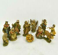 Vintage Nativity Figures Christmas Manger Scene 12 Pieces Made In Italy