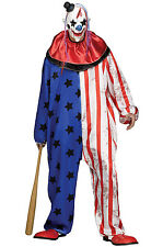 Brand New Scary Horror Evil Circus Clown Adult Costume