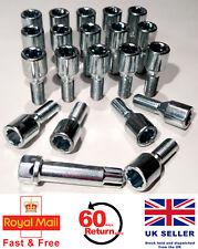 Alfa Romeo 147 alloy wheel tuner bolts + star key M12 x 1.25, 28mm thread x 20