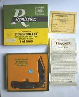 Limited Edition Remington 1990 R1306SB Silver Bullet Tracker Knife Jig Bone Grip