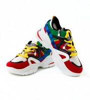 Scarpe Uomo Sportive Sneakers Multicolore Shoes Da Ginnastica Lacci Casual GI...