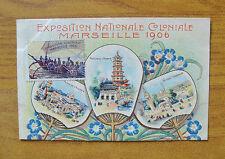 CARTOLINA FRANCIA EXPOSITION NATIONALE COLONIALE MARSEILLE 1906 SUBALPINA ZZ