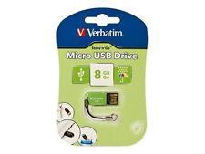 Verbatim N Go Micro 8gb USB Flash Drive Green 47423