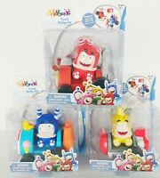 NEW! Oddbods Crash Derby Car Pogo Bubbles Fuse Figure and Vehicle You Choose