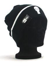 New Era The Punisher Cuff Knit Winter Snow Hat Skull Marvel Comics Black NWT