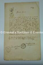 Geburtsurkunde, birth certificate, Philipp Sommernitz, 1836, Nachod, Judaica
