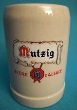 """UNE CHOPE A BIÈRE EN GRÈS """"MUTZIG """" 25 cl  Ref 302762348088"""