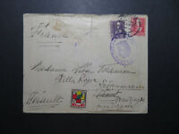 Spain 1939 Censor Cover to France w/ Local Issue / Tape Repaired Tears - Z11818