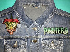 Pantera Girls Denim Cut-Off Waistcoat Vest Gilet Jacket Cowboys From Hell Down