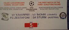 TICKET UEFA CL 2011/12 FC Zestafoni - Sturm Graz