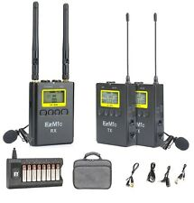 UHF Wireless Lavalier Microphone Kit for DSLR Canon Nikon Sony Smartphone iPhone