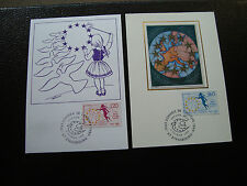 FRANCE (timbre service) - 2 cartes 1er jour 4/2/1989 (cy6) french