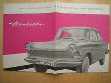 Prospekt Borgward Lloyd Arabella RP WK-Verlag