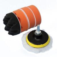 6Pcs 3 inch Buffing Pad Kit For Polishing wheel Car With M10 Drill Adapter U8O8