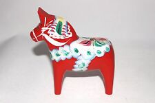 "DALA horse 5"" high Red Hand decorated Swedish Collectible Painted"