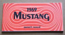 Ford Mustang Owners Manual 1969 69 repro Jim Osborn Reproductions handbook