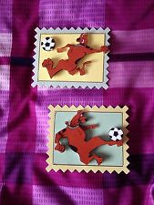 2 x Decoupage Pictures of Scooooby Football Theme Toppers